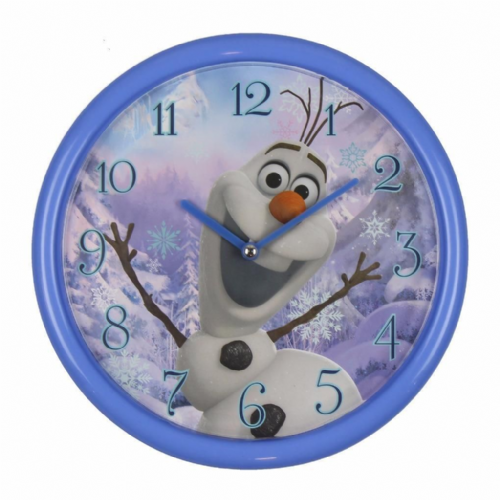 "Disney's Frozen ""Olaf"" Blue Wall Clock For Children's Room 25cm"
